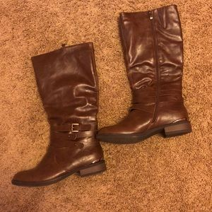 Shoes - Brown Under The Knee Boots